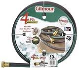 Gilmour 14 Series 4 Ply Reinforced Rubber/Vinyl Hose 5/8 Inch x 50 Feet 14-58050 Black w/Green Stripe