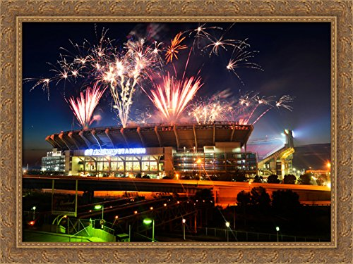 firstenergy-stadium-38x28-large-gold-ornate-wood-framed-canvas-art-home-of-the-cleveland-browns