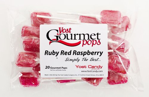 Yost Gourmet Pops, 20 Count Bag - Ruby Red Raspberry front-796657