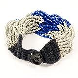 Izta Wrap Bracelet - Snowcap Blue/Silver