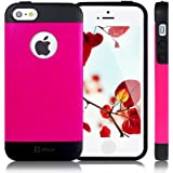 JETech® Gold Super Fit iPhone 5/5S Case for Apple iPhone 5 5S Logo Cut-Out Fits AT&T, Sprint, Verizon, T-Mobile (Z - TPU - Plum)