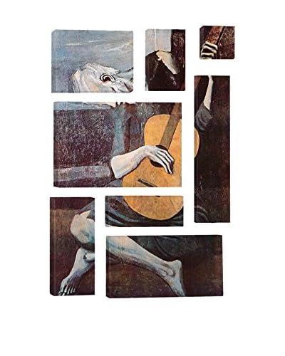 """Pablo Picasso """"The Old Guitarist"""" 8-Piece Canvas Print Set"""