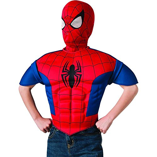 Spider-Man Muscle Chest Kids Shirt & Mask