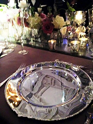 Baroque Silver Charger Plate by Kohinoor