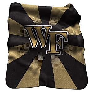 Buy NCAA Wake Forest Demon Deacons Raschel Throw Blanket by Logo Chairs Inc