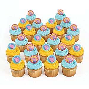 Amazon.com: Peppa Pig 24 Cupcake Topper Rings: Toys & Games
