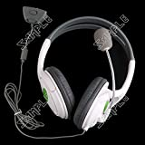 ( LittleSomething ) Cushioned Stereo Ear-cup Headset Headphone With Microphone For Microsoft XBOX 360 2.5mm --...