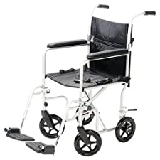 Carex Transport Chair, with Swing-Away Leg Rests,1 transport chair