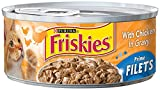 Friskies Cat Food Prime Filet with Chicken in Gravy, 5.5-Ounce Cans (Pack of 24)