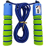 Aoneky Adjustable Jump Rope with Counter and Comfortable Handles, Light Skipping Rope for Exercise, Crossfit, Boxing, Workout and Fitness, Best Christmas Gifts for Boys and Girls Age 5-10 Year Old