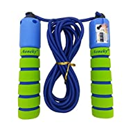 Aoneky Adjustable Jump Rope with Coun…