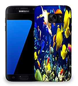 Snoogg Multicolor Fishes Designer Protective Phone Back Case Cover For Samsung Galaxy S7