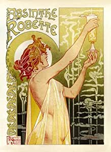 Absinthe Vintage French Advertising - Large Metal Wall Sign Retro Art 30cms x 40cms