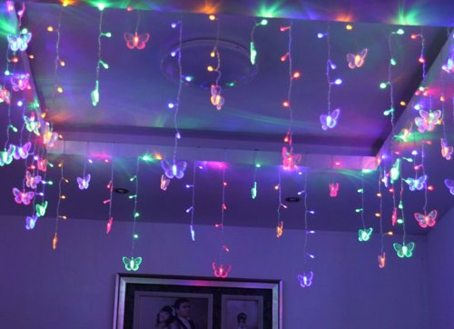 Butterfly String Lights For Bedroom : Ayangyang Multi Color Butterfly Shape Led String Light Holiday Fashionable Lights Bedroom ...