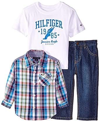 Tommy Hilfiger Baby Boys' Sebastian 3 Piece Set, Tommy ...