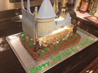 New Harry Potter Castle Cake Decorating Kit Cotton Candy ...