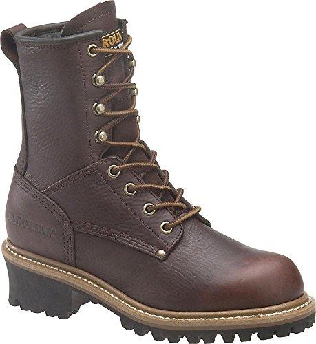 Carolina Ca421 Womens Dark Brown Leather Logger Work Boot - 7.5M