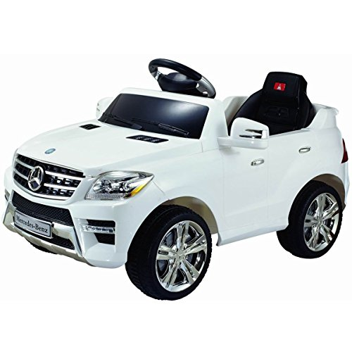 Costzon White Mercedes Benz ML350 6V Electric Kids Ride On Car Licensed MP3 RC Remote Control (Mercedes Benz Kids Electric Car compare prices)
