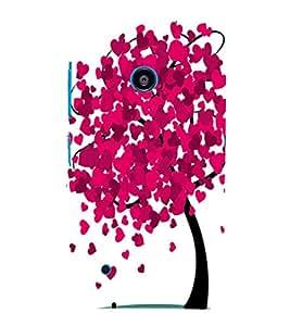 printtech Heart Tree Back Case Cover for Nokia Lumia 530::Microsoft Lumia 530