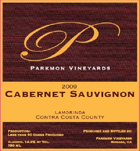 2009 Parkmon Vineyards Cabernet Sauvignon Contra Costa County 750 Ml