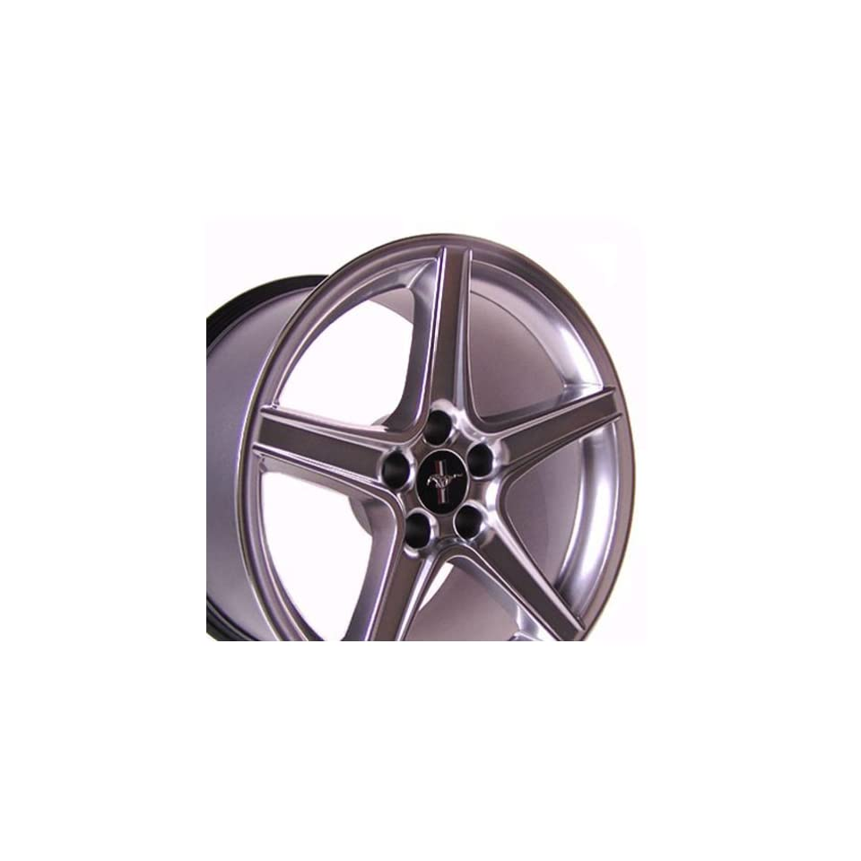 Ford Mustang Saleen Style Wheel Silver Wheels Rims 1994 1995 1996 1997 1998 1999 2000 2001 2002 2003 2004 2005 94 95 96 97 98 99 00 01 02 03 04 05