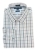 Tommy Hilfiger Mens Long Sleeve Custom Fit Button Front Shirt - M - Pink/Navy/White