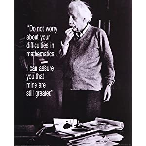 Einstein - Do Not Worry FINEST BRAND CANVAS Print With Added Heavy BRUSHSTROKES Unknown 16x20