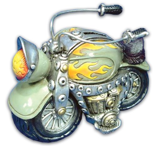 Bollo Regalo Green & Yellow Motorcycle Bank C068142G - 1