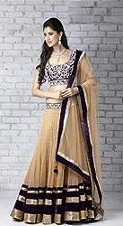 V-Kart Women's Net Unstitched Dress Material (Vkart_325_Black_Free Size)