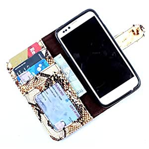 i-KitPit PU Leather Wallet Flip Case Cover For HTC Desire 700