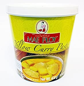 mae ploy thai yellow curry paste 14 oz jar grocery