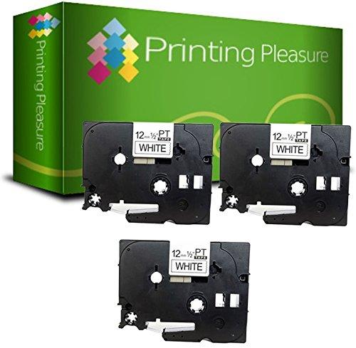 3x-compatibile-brother-p-touch-tze231-nero-su-bianco-12mm-x-8m-cassetta-nastro-laminato-per-brother-