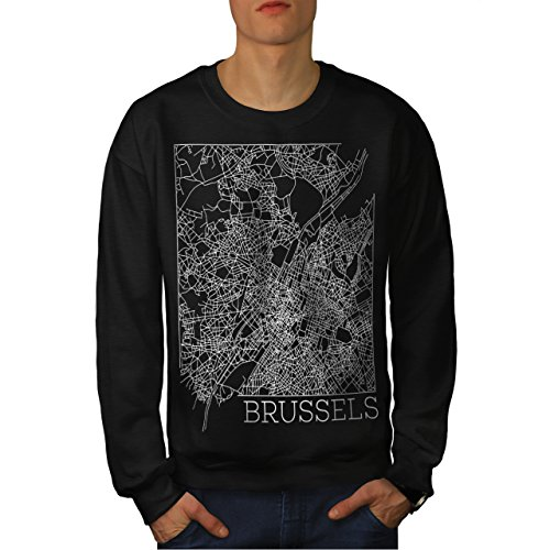 belgium-brussels-map-big-town-men-new-black-m-sweatshirt-wellcoda