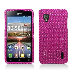 Aimo Wireless LGLS970PCDI003 Bling Brilliance Premium Grade Diamond Case for LG Optimus G LS970 - Retail Packaging - Hot Pink