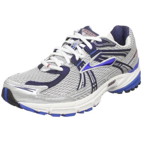 Brooks Men's Adrenaline Gts 11 Running Shoe,White/Silver/Midnight Blue/Cardinal,12 D US