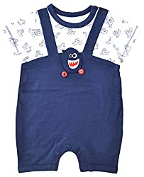 Babeez Baby Boy Yarn dyed Short Romper (100% Cotton) to fit height 80 - 86cms