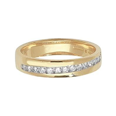 Unique Wishlist 9ct Yellow Gold Thirteen Stone 26pt Diamond Crossover Wedding Band *RD709