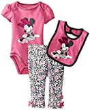 Disney Baby Baby-Girls Newborn Minnie Creeper Pant Bib Layette