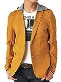 (アローナ)ARONA フード付 コットン テーラードジャケット メンズ 65マスタード L