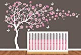 Nursery Large Cherry Blossom Flower Tree with Custom Name Art Decals Wall Sticker Vinyl Wall Decal Stickers Living Room Bed Baby Room K84