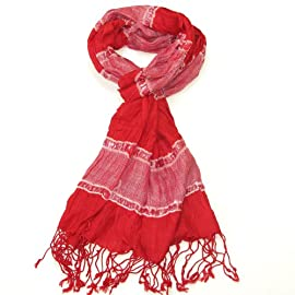 Women's Scarf-Crinkled gorgeous scarf for women-Pashminas-Available in Pink, Red and Lime Colours-Shawl and wrap for women