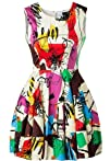 Sheinside Women's Multicolor Sleevele…