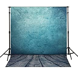 Mohoo 5x7ft Silk Photography Backdrop Background Classic Wooden Floor Pattern Photography Backdrop Studio Props (Updated Material)