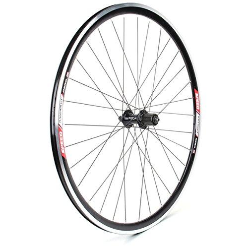 Sta-Tru 700 x 20 Speed Tuned Aero 32h 2200 Hub Stainless Steel 8/9 Speed Black Rear Bicycle Wheel - RWAeroKS22K