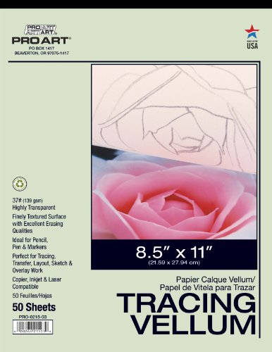 Pro Art 8-1/2-Inch by 11-Inch Tracing Vellum Paper Pad
