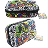 Marvel Avengers Spiderman Thor Hulk Comics Molded Pencil Case (Color: Black, Tamaño: ONE SIZE)