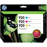 HP 920 Cyan/Magenta/Yellow Original Ink Cartridge Combo Bonus Pack