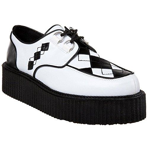 """DEMONIA V-CREEPER-510 2"""" Platform Men Punk Goth Argyle Veggie Creeper Shoe"""