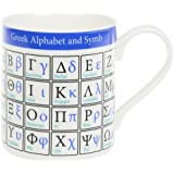 Greek Alphabet and Symbols Educational Fine Bone China Mug
