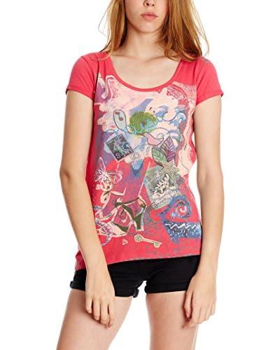 Sidecar Camiseta Manga Corta Greta Coral